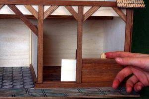 Dřevěná stavebnice Stáj