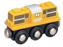 Dřevěné hračky Maxim Dieselová lokomotiva - žlutá