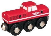 Dieselová lokomotiva - červená