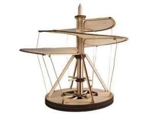 Dřevěná stavebnice Leonardo da Vinci Aerial Screw - Létací vrtule