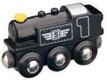 Parní lokomotiva - černá