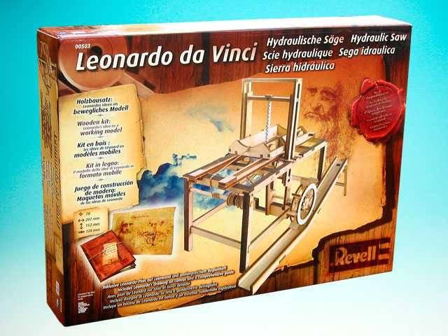 Dřevěná stavebnice Leonardo da Vinci Hydraulic Saw - Hydraulická pila