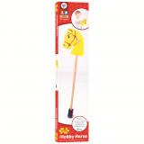 Dřevěné hračky Bigjigs Toys Koníček na tyči žlutý