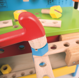 Dřevěné hračky Bigjigs Toys Pracovní ponk modrý