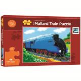 Dřevěné hračky Bigjigs Toys Dřevěné puzzle vlak mallard 48 dílků
