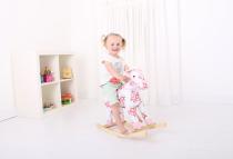 Dřevěné hračky Bigjigs Toys Dřevěný houpací kůň s květy