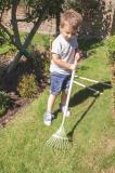 Dřevěné hračky Bigjigs Toys Zahradní hrábě na listí zelené
