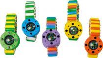 Dřevěný barevný náramek kompas 1ks  fialová