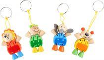 Přívěšek na klíče Flexibilní zvířata 1ks  zelená
