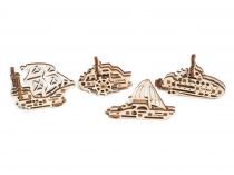 Ugears 3D dřevěné mechanické puzzle U-fidget lodě