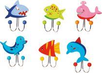 Věšák -  Mořská zvířátka 1ks modrý tuleň