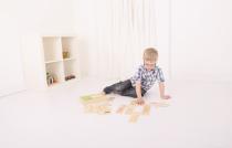 Dřevěné hračky Bigjigs Toys Obrovské dřevěné domino