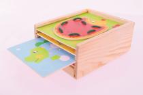 Dřevěné hračky Bigjigs Toys Provlékání zvířátek