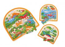 Dřevěné hračky Bigjigs Toys Dřevěné vícevrstvé puzzle Dinosauři