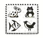 Dřevěné hračky Bigjigs Toys Dřevěné vkládací puzzle černobílé tvary