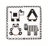 Dřevěné hračky Bigjigs Toys Dřevěné vkládací puzzle černobílé tvary 1