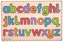 Dřevěné hračky Bigjigs Toys Puzzle uč se psát