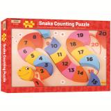 Dřevěné hračky Bigjigs Toys Vkládací puzzle čísla had