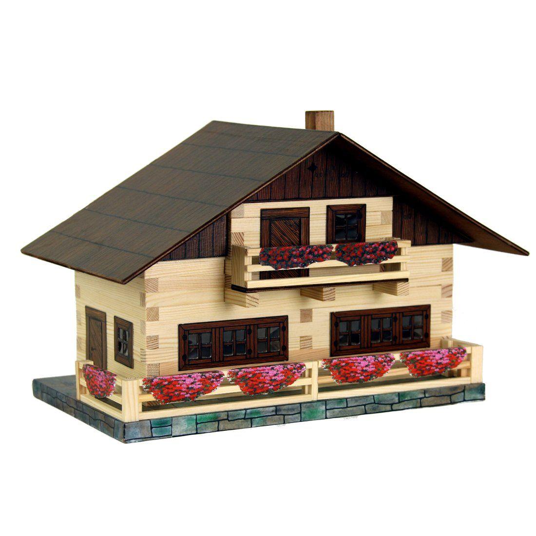 Dřevěné hračky Dřevěná stavebnice Walachia Alpský dům