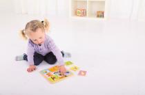 Dřevěné hračky Bigjigs Toys Dřevěné vkládací puzzle 9 zvířátek