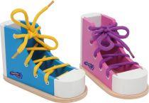 Hra Zavaž si tkaničku Bota  modrá