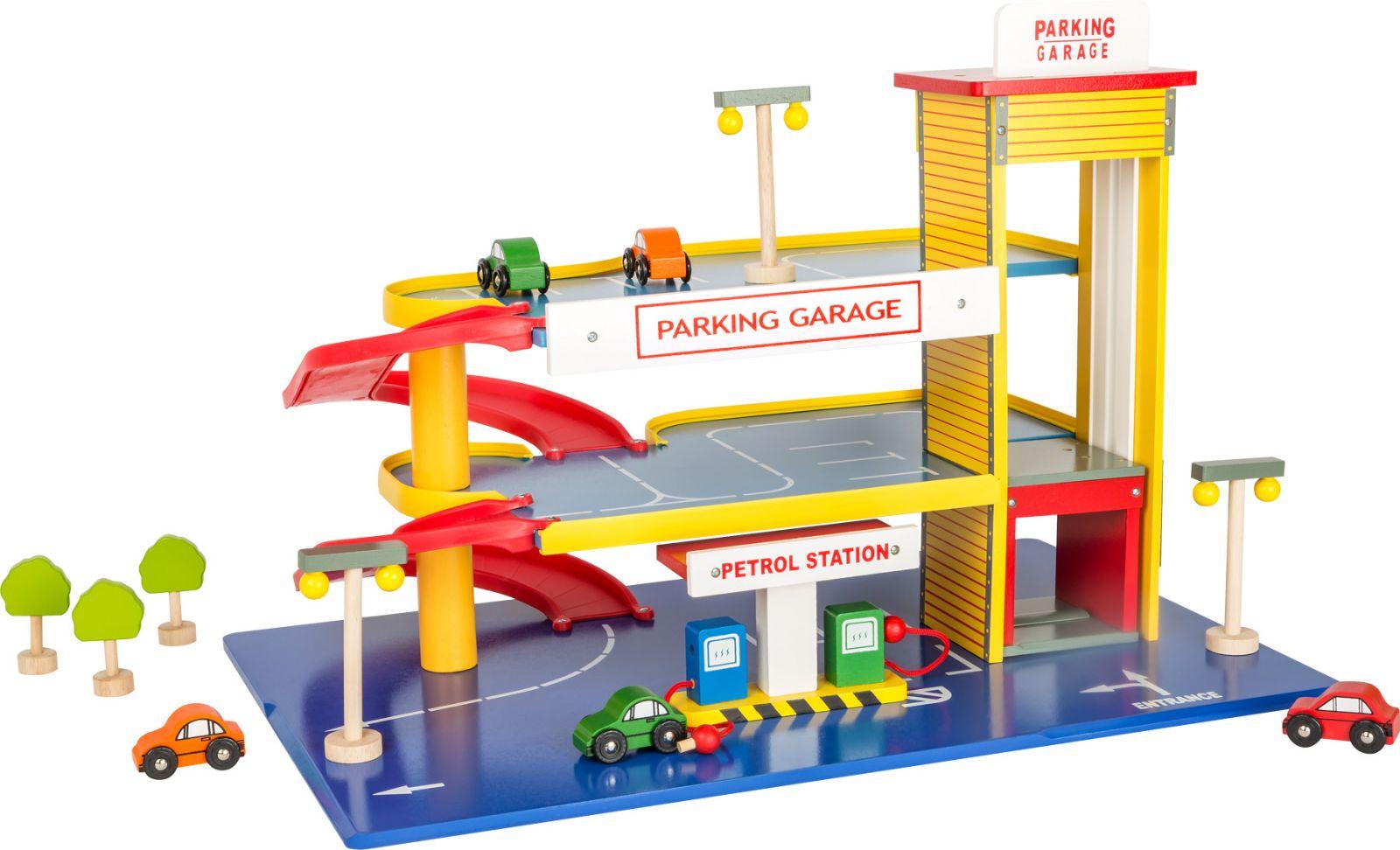 Dřevěné hračky Small Foot Dřevěná garáž - parkovací dům poškozený obal Small foot by Legler