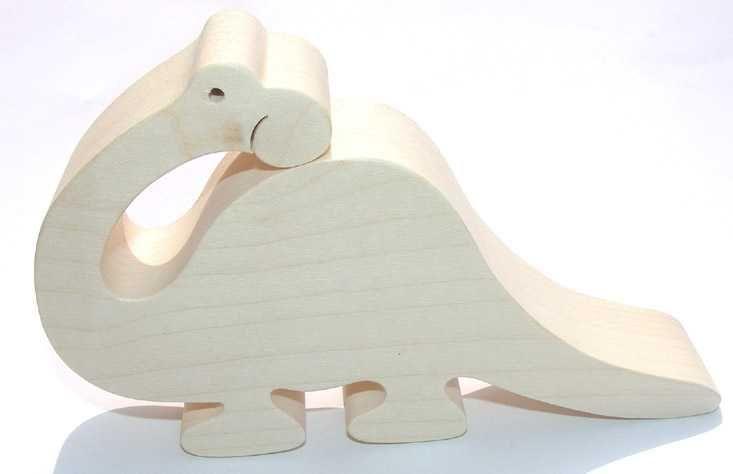Dřevěné hračky Dřevěná hračka - Brontosaurus velký Fauna