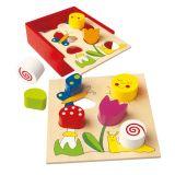 Dřevěné hračky Bino Moje první puzzle Bella Florina