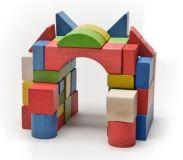 Dřevěné hračky Dřevěné kostky mix 50 Gerlich