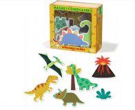 Vilac Dřevěné magnetky dinosauři 20ks poškozená krabička