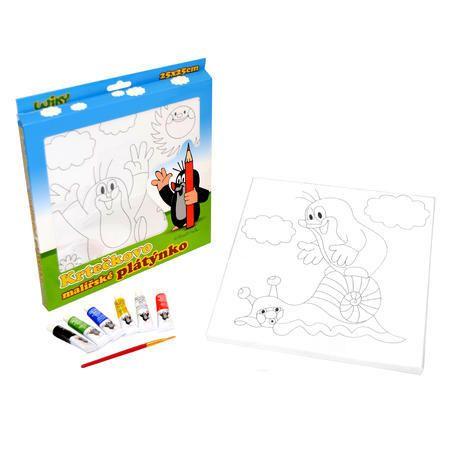 Dřevěné hračky Krtečkovo malířské plátno Wiky