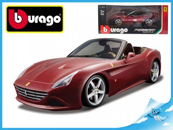 Dřevěné hračky Bburago Auto Race & Play Ferrari California T (open top) 1:24