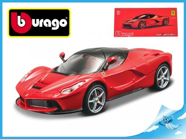 Dřevěné hračky Bburago Auto Race & Play Ferrari Signature LaFerrari 1:43