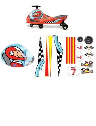 Dřevěné hračky Didicar samolepky Závodník