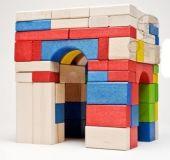 Dřevěné hračky Dřevěné kostky mix 100 Gerlich