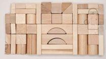 Dřevěné kostky mix 50 natur