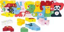 Small Foot Edukativní puzzle se zvířátky Abeceda