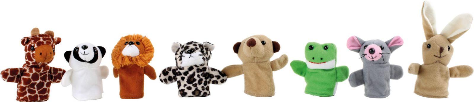 Dřevěné hračky Small Foot Prstoví maňásci veselá zvířátka Small foot by Legler