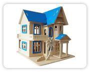 Woodcraft Dřevěné 3D puzzle letní dům