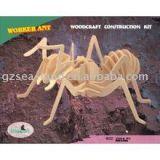 Woodcraft Dřevěné 3D puzzle dřevěná skládačka mravenec