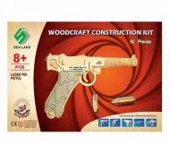 Woodcraft Dřevěné 3D puzzle pistol Luger