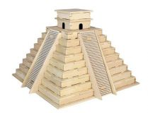 Woodcraft Dřevěné 3D puzzle pyramida Inků