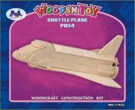Woodcraft Dřevěné 3D puzzle raketoplán