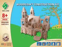 Woodcraft Dřevěné 3D puzzle zámek princea