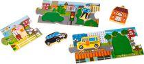 Small Foot Dřevěné puzzle panorama města