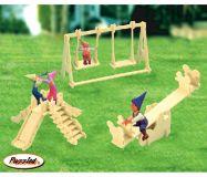 Woodcraft Dřevěné 3D puzzle hřiště