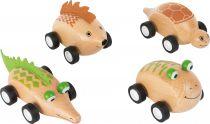 Dřevěné zvířátkové autíčko 1ks  Žabka