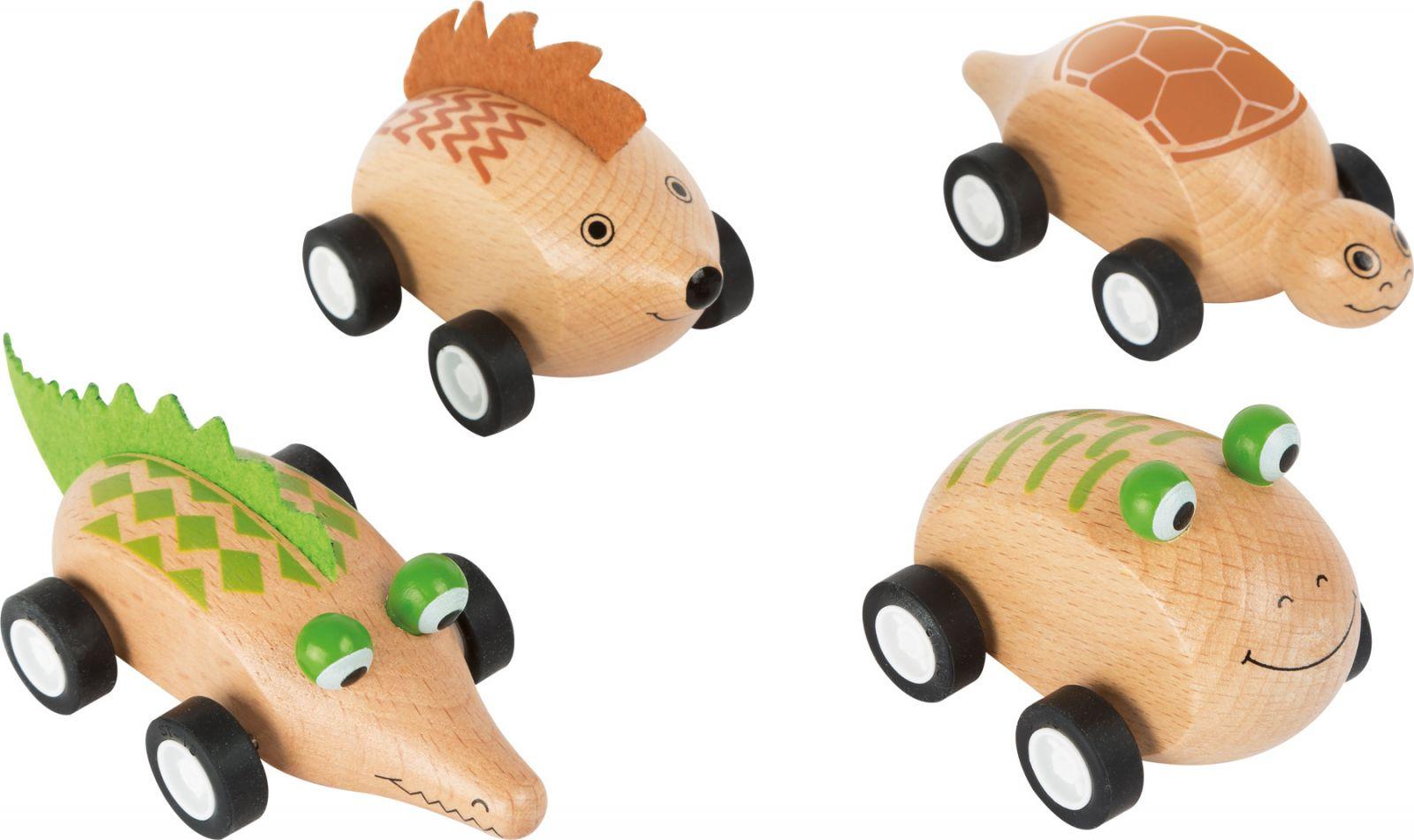 Dřevěné hračky Dřevěné zvířátkové autíčko 1ks Žabka Small foot by Legler
