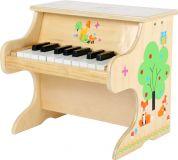 Dřevěný klavír přírodní s liškou