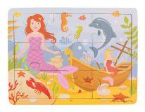 Bigjigs Toys Dřevěné puzzle Mořská panna